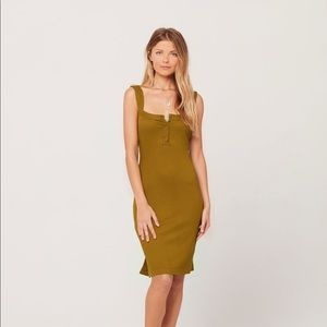 L*Space Ribbed Louise Dress Moss